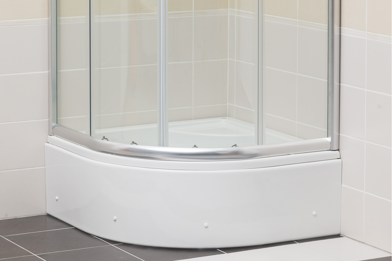 Step - half round deep shower tub with cabin / Favorit Bathtubs